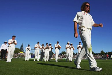 See I told you..  Every test match, Sidey seems to be leading the boys off.