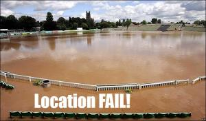 New Road, Worcestershire. Groundsman Fail!